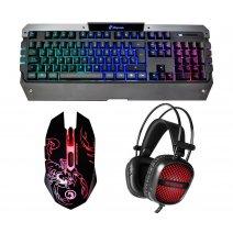 Combo Gamer 3 En 1 Teclado Mouse y Auriculares MT-C500