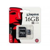 Memoria Microsd 16gb Kingston Clase4 Con Adaptador. Oferta
