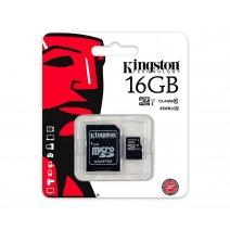 Memoria Microsd 16gb Kingston Clase10 Con Adaptador Oferta