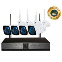 Kit Seguridad OFXPRO Dvr 4 HD + 4 Camaras Metálicas Ext 1mp Wifi