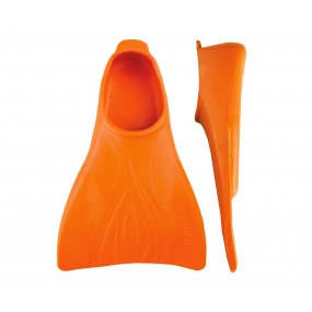 Aletas natación niños caucho natural naranja OY