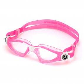 Lentes natación niños claros color rosado blanco OY