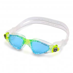 Lentes natación niños color transparente blanco lima azul