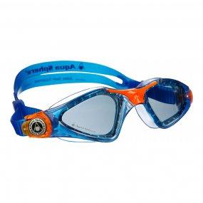 Lentes natación niños color azul naranja oscuro