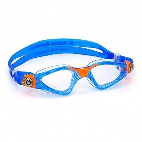Lentes natación niños color azul naranja claro