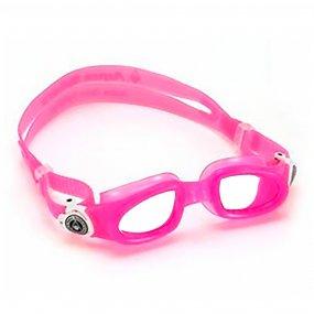 Lentes natación piscina niños color rosado blanco claro OY