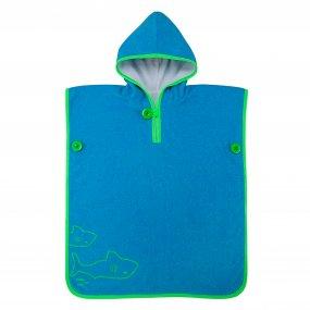 Toalla natación niños  bebés suave color azul verde OY