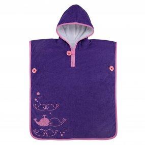 Toalla natación niños suave color púrpura rosado OY