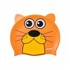 Gorra natación niños silicona nutria color naranja OY