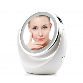 Espejo Touch Beauty TB-0678 con aumento luz led marco giratorio OY