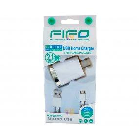Cargador de celular Dual Micro USB Fifo 10323