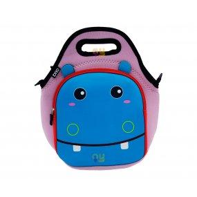 Lunchera Infantil Neopreno Diseño Hipopótamo Resistente al agua BRIO